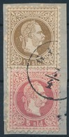 Magyar Posta Romániában 1867 5sld + 15 Sld Kivágáson 'GA(LATZ)' (165.000-220.000) - Timbres