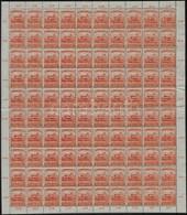 ** 1919 Magyar Tanácsköztársaság Sor Középen Hajtott Teljes ívekben (180.000) (ráncok, Fogelválások) - Timbres