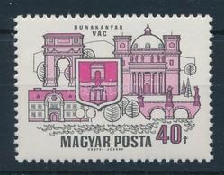 ** 1969 Dunakanyar 40f, Látványos Tévnyomat: Hiányzó Kék és Sárga Színnyomatok. A Szakirodalomban és A Bélyegkereskedele - Timbres
