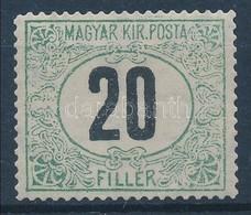 ** 1914 Zöldportó 20f álló Vízjellel, Gyűjtői Célra Az Eredetitől Kicsit Eltérő Nyomási Képpel Készült Utánnyomat / Post - Timbres