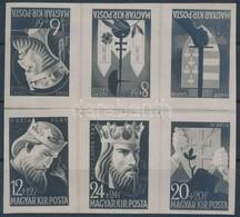 1942 Királyok: Gönczi Gebhardt Tibor Meg Nem Valósult Bélyegterveinek Bélyegméretű Eredeti Nyomdai Fotói. Rendkívüli, Ta - Timbres