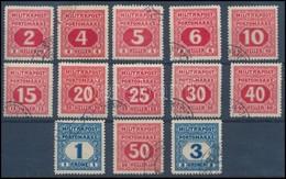 O Bosznia-Hercegovina 1916 Portó Sor 13 érték (51.300) - Timbres