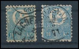 O 1871 Kőnyomat 10kr Klf Színárnyalatok (53.000) - Timbres