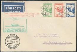1931 Aug. 27. Zeppelin Levél Első Dél-amerikai Repülés 'BUDAPEST' - Rio De Janeiro RR! - Timbres