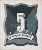 -1946 Konecsni György Dekoratív Portó Eredeti Bélyegterve 11 X 13 Cm - Timbres