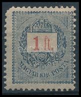 * 1888 1Ft 12:11 3/4 Fogazással (45.000) (bal Felső Foghiány) - Timbres