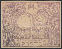 (*) 1914-1918-as évek 1K Nagyméretű Bélyegterv, Egyedi Ritkaság RR! - Timbres