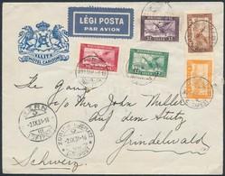 1931 Légi Levél Svájcba / Airmail Cover To Switzerland - Timbres