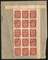 1946 (21. Díjszabás) Távolsági Levél A Hátoldalra Ragasztott 2000 Milpengő ívdarabokkal (valószínűleg 2 Teljes ív) Bérme - Timbres