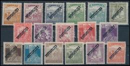 ** 1918 Köztársaság 17 Db Klf Bélyeg Fordított Felülnyomással (33.500) - Timbres