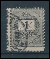 O 1889 1kr 11 1/2 Fogazással (27e) Ritka (35.000+) (3 Oldalon Rövid Sarokfogak) - Timbres