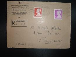 DEVANT LR TP 6F + TP 3F OBL.MEC.26 VII 46 MONACO PRINCIPAUTE - Monaco