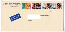 M452 Hong Kong China Lettre Poste Aérienne 2003 Airmail Letter Hong Kong To Hungary, Navigation, Yachts And Dragon Boat - Cartas