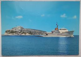 ISOLE TREMITI - SERVIZIO PASSEGGERI MOTONAVE DAUNIA  - Nave Ship Bateaux  Vg - Foggia