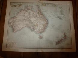 Carte Géographique De L'année 1884 AUSTRALIE Et NOUVELLE ZELANDE; Amérique Centrale Et Antilles ; USA (partie Orientale) - Cartes Géographiques