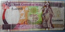 Malta 2 Liri 1967 Serie A/ 12 Bank Lira - Malte