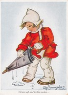 Girl With Umbrella , Artist Tilly V. Baumgarten-Haindl , 1930s - Illustrators & Photographers