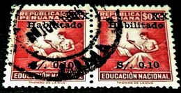 Peru,1966, National Education-overprinted Value 0,10s-3s. Michel # 45 - Pérou