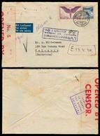 SWITZERLAND. 1940 (28 March). Zurich - PALESTINE. Airmail. Insuff Fkd Env. Retained For Further Postage, Violet Cachet, - Switzerland
