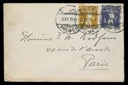 SWITZERLAND. 1910. Basel - France. Env Fkd 2r + 3r, PM Rate. William Tell. - Switzerland