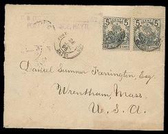 HAITI. 1897. Port An Prince - Usa. Env Fkd 5c Pair / Consular Mail. - Haiti