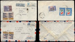 INDOCHINA. C.1970. Long - Xuyen - W. Germany. 2 Registr Multifkd Env / South Vietnam / Military Officers Mail. - Stamps