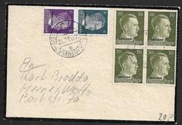 1943 - DR - OSTLAND - TRAUERBRIEF - Viererblock 30Pfg Mi.# 14 Und Mi.# 3, 5 - Briefe U. Dokumente