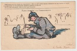 CORRESPONDANCE DES ARMEES - DESSIN ORIGINAL - Marcophilie (Lettres)