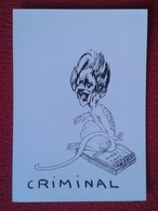 POSTAL POSTCARD CARTE POSTALE POLITIC POLITICAL MAGGIE MARGARET TATCHER RAT CRIMINAL CARICATURE CARTOON BOBBY SANDS IRA - Satirical