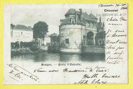 * Brugge - Bruges (West Vlaanderen) * (Chocolat Jos Bieswal & Cie) Porte D'Ostende, Oostendse Poort, Quai, Canal 1900 - Brugge