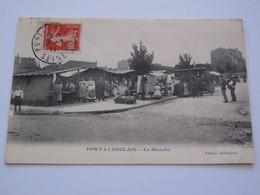 Ancienne Carte Postale Cpa Vitry Sur Seine Port à L'Anglais Le Marché Animée - Vitry Sur Seine