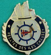 FF 858.........ILES CHAUSEY.........département De La Manche...........pin's  Sans  Défaut ! - Cities