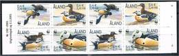 Aland 2001 - Mint Booklet WWF - Ducks (2 Sets) - Aland
