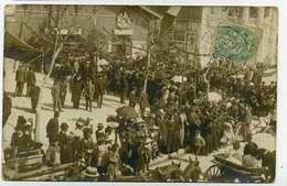 ARCACHON  Cp Photo Fete Devant La Mairie, 1906, Rare - Arcachon