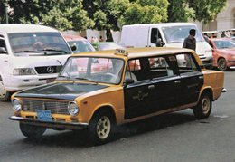 Lada VAZ 2101 'Limousine' TAXI -  Havanna, Cuba       -  CPM - Taxis & Cabs