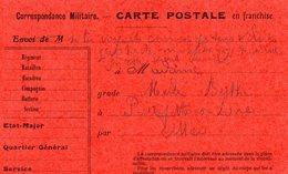 CP Correspondance Militaire- - Marcophilie (Lettres)
