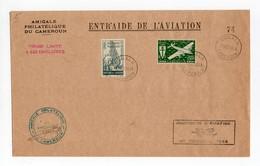 !!! PRIX FIXE : CAMEROUN, ENVELOPPE COMMEMO JOURNEE DE L'AVIATION 31/12/1944 CACHET DE DOUALA - Camerún (1915-1959)