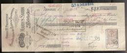 MANUFACTURE DE CUIRS & COURROIES MARIUS SARDA 18/09/1909 - Lettres De Change