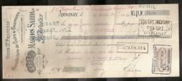 MANUFACTURE DE CUIRS & COURROIES MARIUS SARDA 24/03/1910 - Lettres De Change