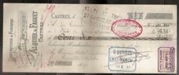 CONSTRUCTION & FONDERIE ALQUIER & FAGUET 15/01/1909 - Lettres De Change