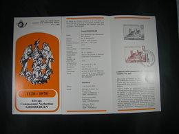 "BELG.1978 1888 FDC (Brux/Brus) Feuillet FR. : "" 850 Ans Communauté Norbertine Grimbergen "" - FDC"