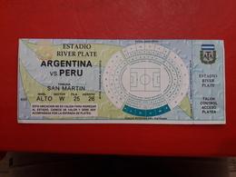 Argentina Futbol Entrada Partido Argentina Vs Peru - Tickets - Entradas