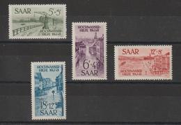 Sarre 1948 Profit Victimes Inondations 1947  244-247  4 Val. ** MNH - Neufs
