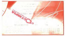 Ticket Entrée Paris Olympia Concert Eddy Mitchell Novembre 2010 - Eintrittskarten
