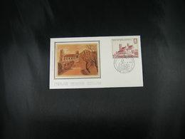 """BELG.1978 1888 FDC Soie(Peruwelz): """"Norbertijnabdij Grimbergen 1128-1978 , 850 Ans Communauté Norbertine Grimbergen """" - FDC"""
