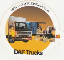 DAF  Sticker, Autocollant DEDICATED TO DISTRIBUTION - Camions