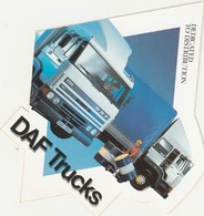 DAF TRUCKS DEDICATED TO DISTRIBUTION Sticker, Autocollant - Camions