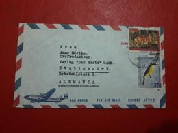 La Venezuela Enveloppe Circulé Avec Timbre De Félin Et D'oiseaux - Venezuela