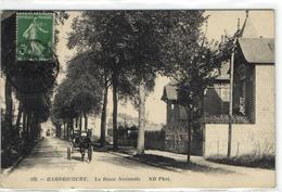 1 Cpa Hardricourt - La Route Nationale - Hardricourt