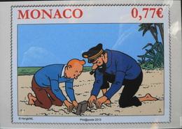 MONACO 2013 - Encart Tintin - Haddock - Enveloppe 1er Jour Datée Monaco Le 21.11.2012 - Parf. Et. - FDC